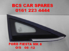 FORD  FIESTA   Mk 8    FRONT  WINDOW / GLASS  DRIVER   SIDE  CHROME TRIM  2008 - 2014 (1)